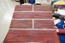 浪岩漆試做樣版,仿紅磚