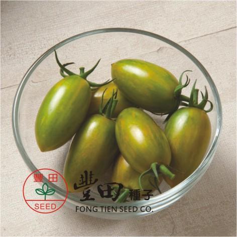 豐田204橢長型條紋蕃茄(綠帶黃條紋)