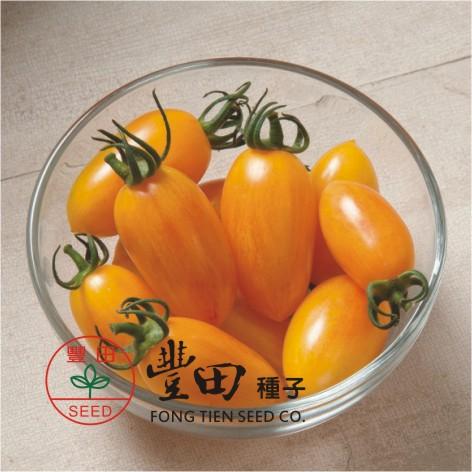 豐田206橢長型條紋蕃茄(亮黃帶紅條紋)