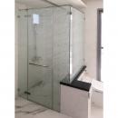 浴室翻修|AMBER19系列淋浴門+防爆貼膜