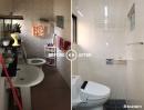 浴室翻修|JET33系列淋浴門+AICA抗菌壁板(巴黎香檳石紋)