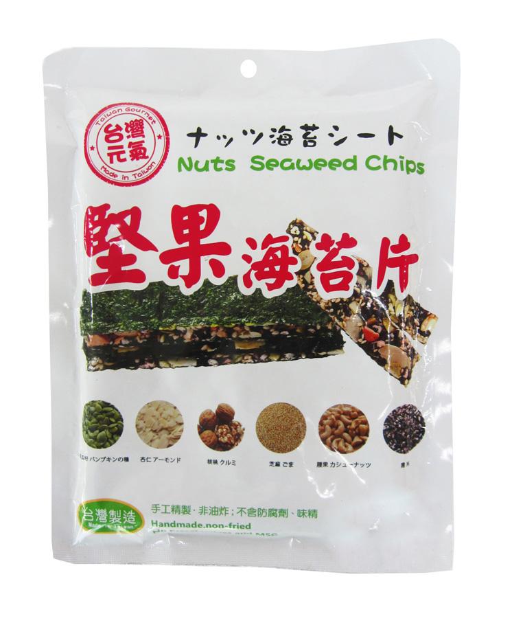 臺旺–台灣堅果海苔片 (40公克/單包)