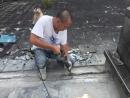 斷水施作----挖深入至結構層1公分 (3)