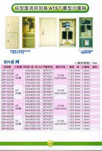 品型匯流排加高.ATS下置型分電箱