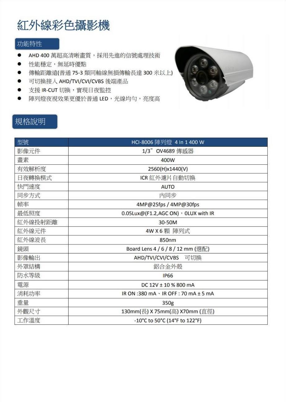 GT 400萬畫素紅外線攝影機
