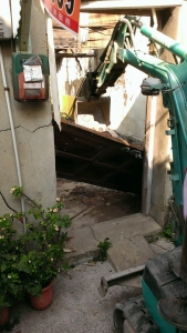民權路古厝拆除工程