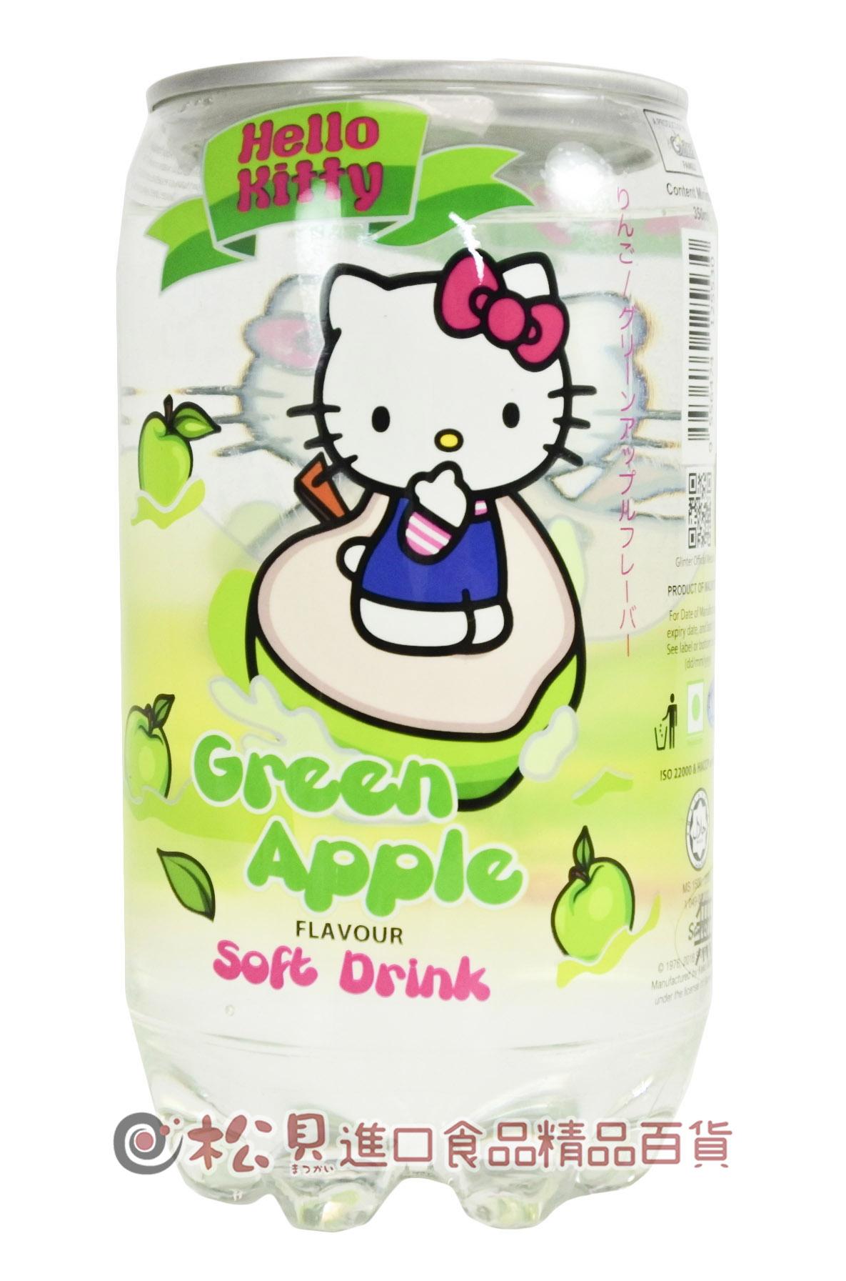 凱蒂貓加味氣泡水(青蘋果)350ml【9556474125530】.jpg