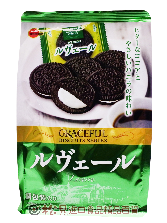 北日本花形可可香草餅114g【4901360328956】