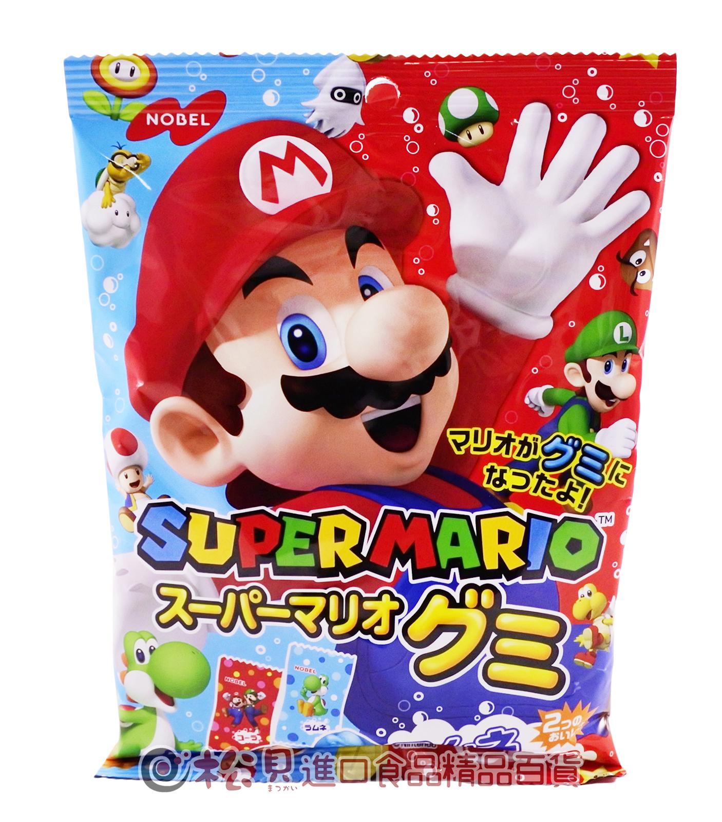 諾貝爾超級瑪利可樂汽水軟糖90g【4902124681201】