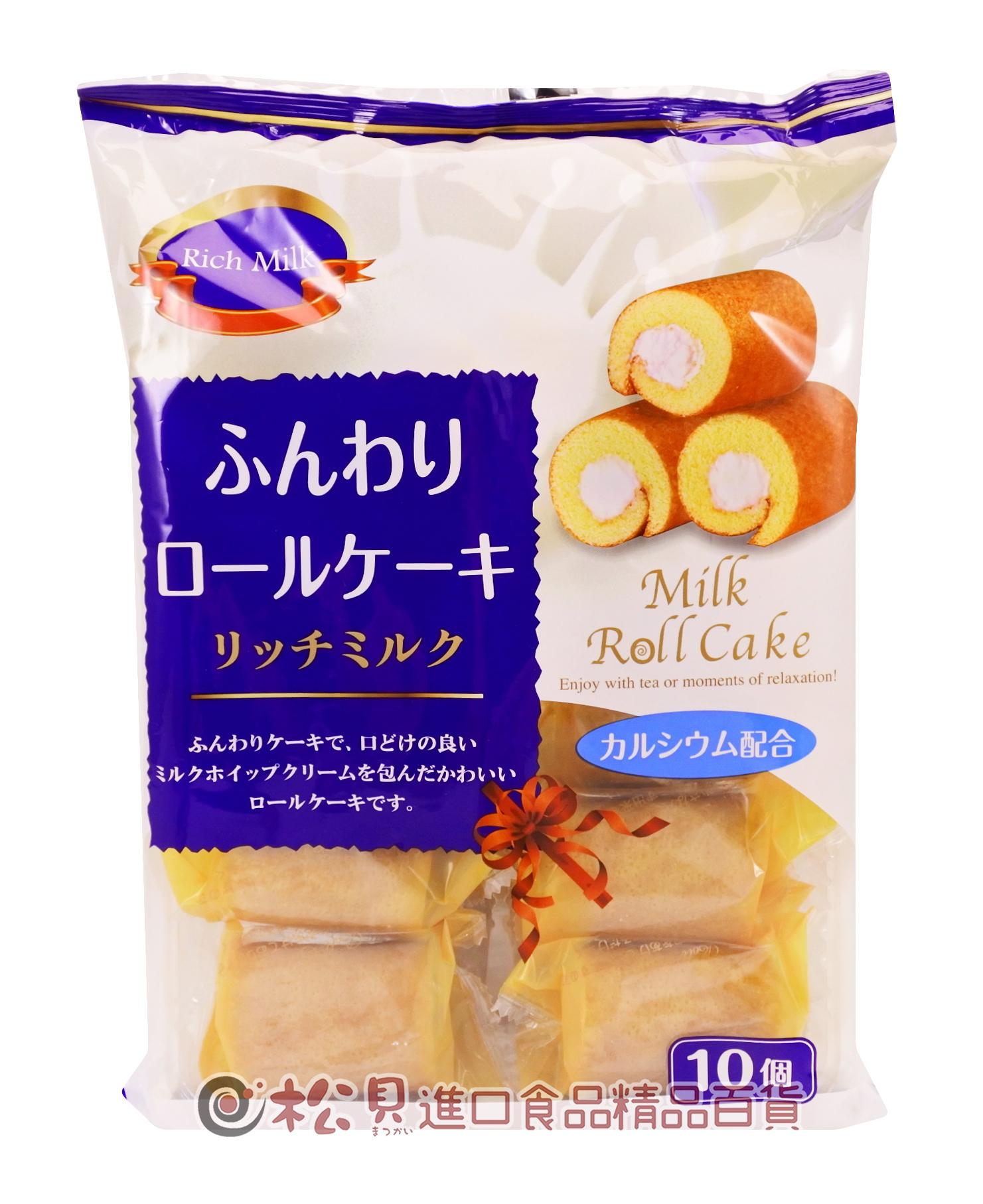 山內牛奶捲心蛋糕10入190g【4903099102678】