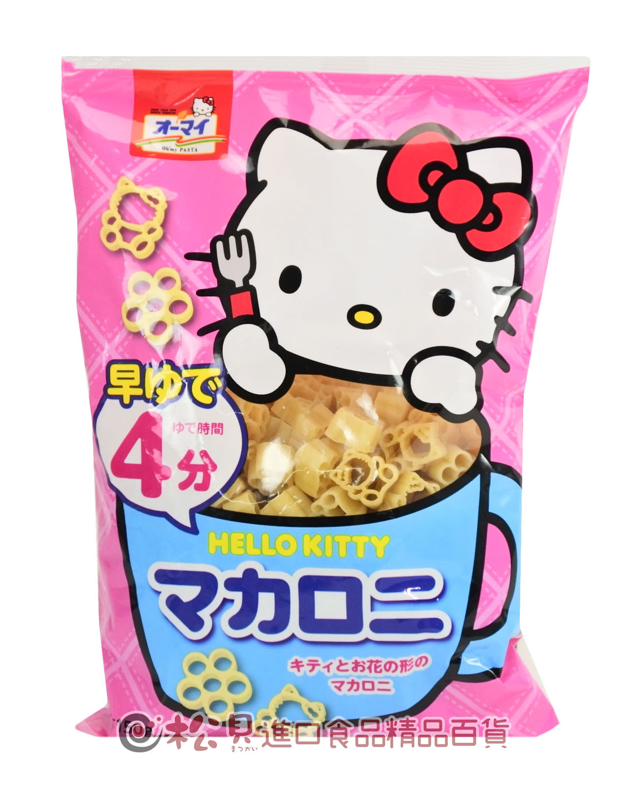 日本凱蒂貓通心麵4分150g【4902170251731】