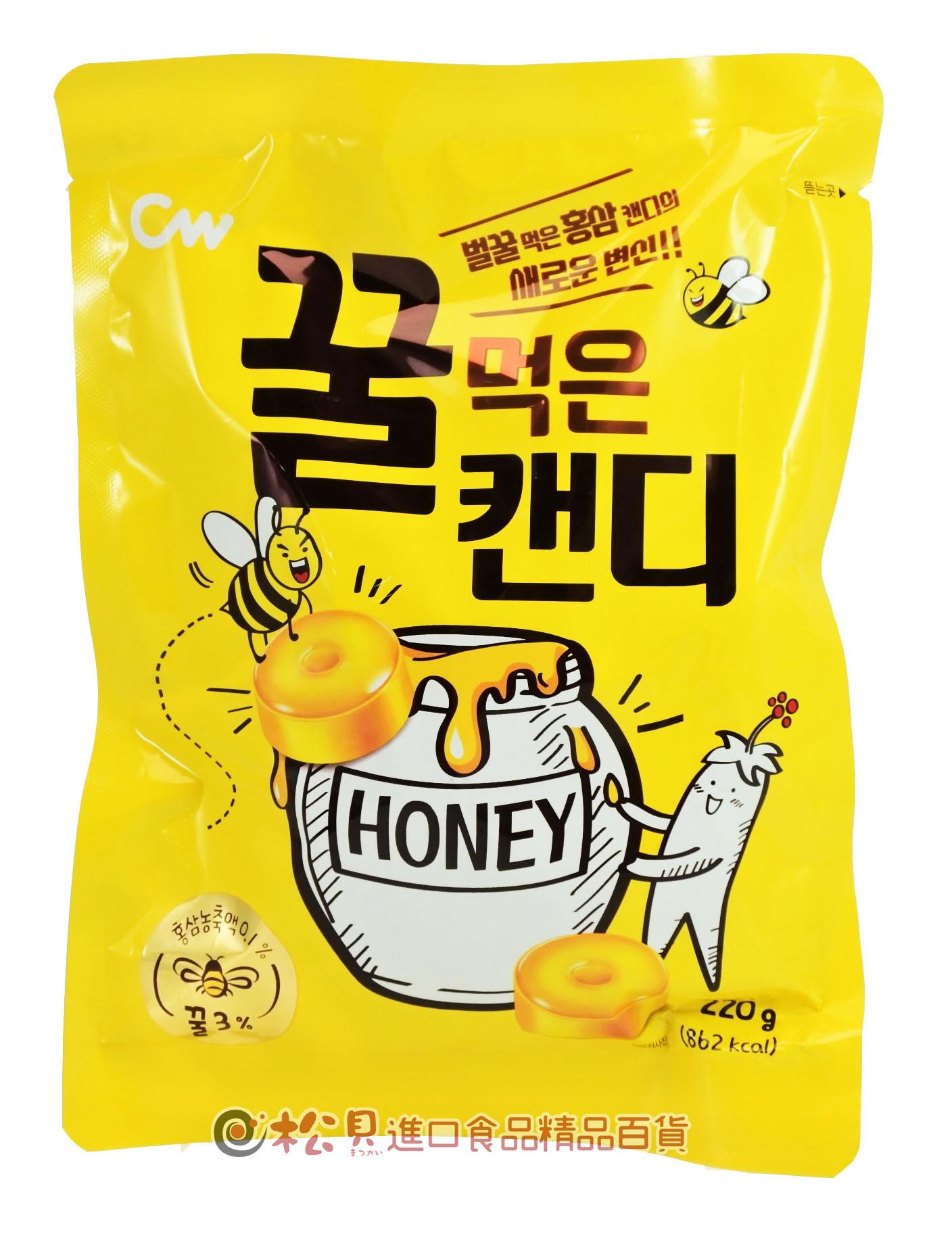 CW蜂蜜紅蔘糖220g【8801204309584】