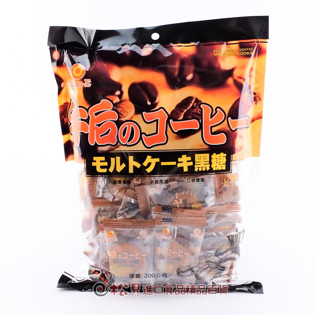 巧益午后咖啡黑糖麥芽餅200g【4718037137434】