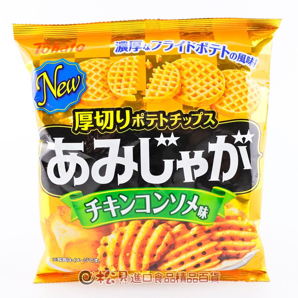 東鳩網狀洋芋片(雞湯味)60g【4901940039937】
