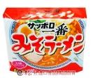 一番5食包麵(味增)500g【4901734000198】