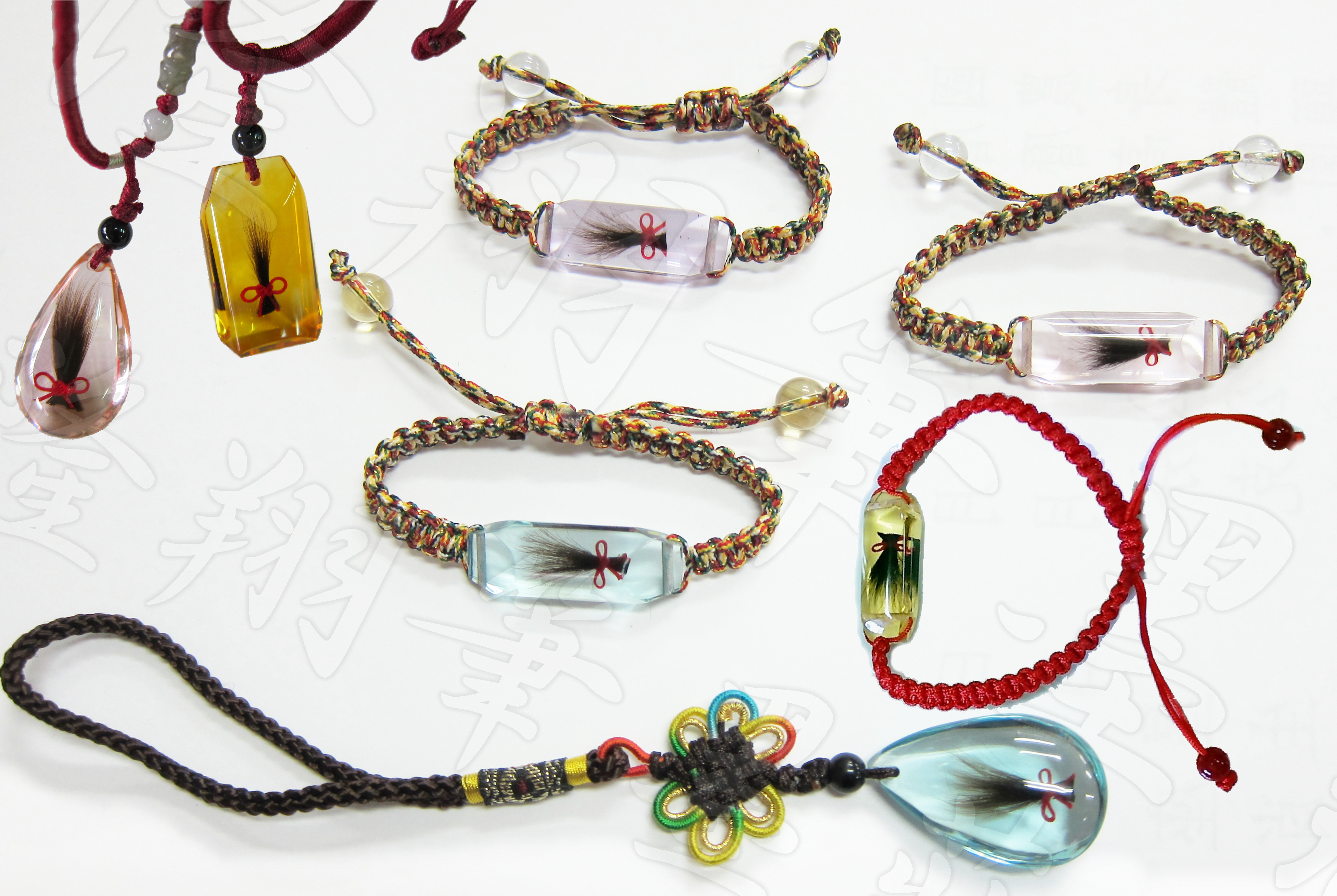 波麗仿水晶多色髮臍-手練,項鍊,吊飾