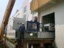 射出機二樓入廠安裝定位