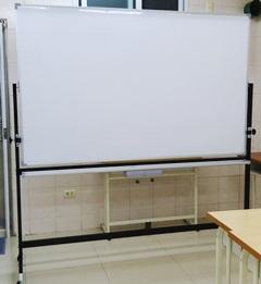 120x180cm雙面白板+烤漆鐵製迴轉架